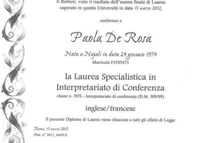 Laurea Magistrale in Interpretazione di Conferenza
