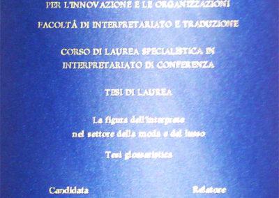 Laurea Magistrale in Interpretazione di Conferenza. La figura dell'Interprete nel settore della moda e del lusso
