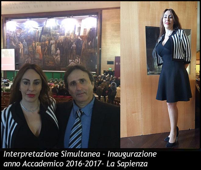 Interpretazione Simultanea- Inaugurazione anno Accademico 2016-2017 - La Sapienza