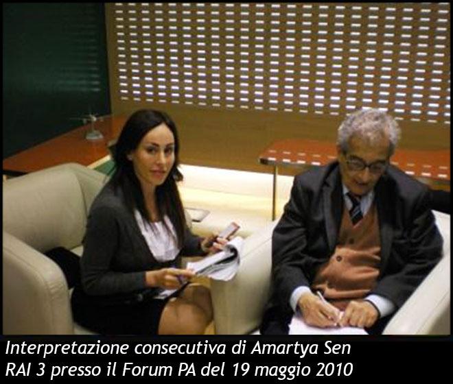Interpretazione Consecutiva di Amartya Sen