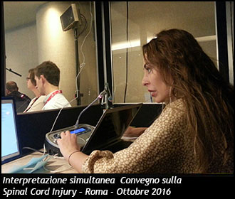 Interpretazione simultanea  Convegno sulla Spinal Cord Injury – Roma - Ottobre 2016