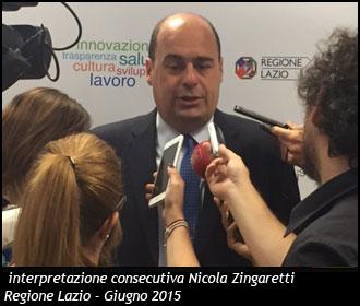 Interpretazione Consecutiva Nicola Zingaretti