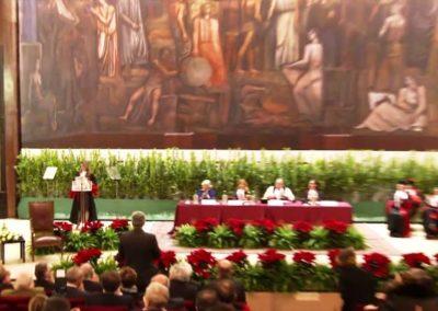 Organizzazione del servizio di traduzione per il conferimento della Laurea ad Honorem a sua Maestà Rania di Giordania | Roma Dicembre 2015