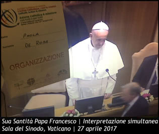 Interpretaqzione simultanea papa Francesco