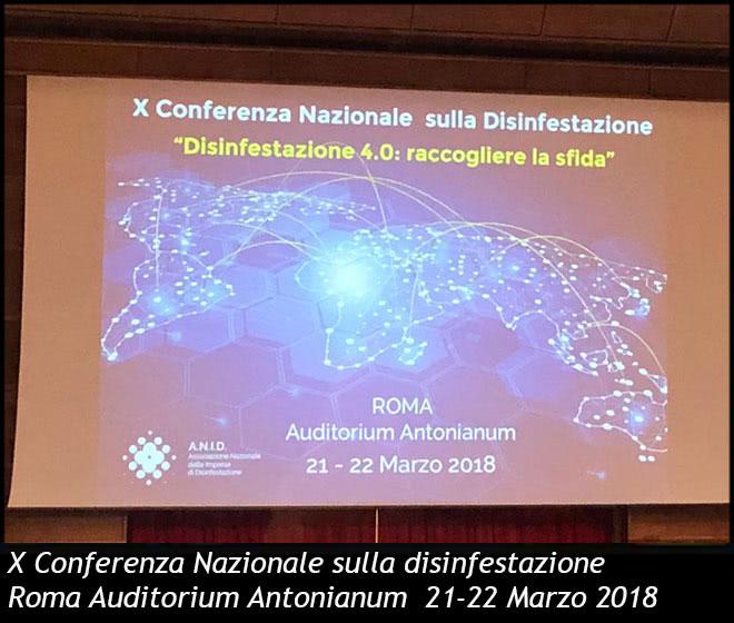 X Conferenza Nazionale sulla disinfestazione