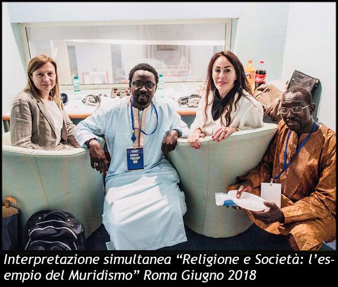 """Interpretazione simultanea """"Religione e Società: l'esempio del Muridismo"""""""